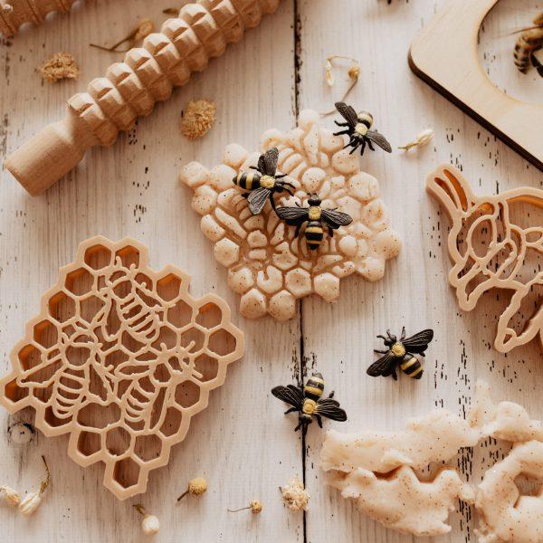 teddy bear bee eco cutter set