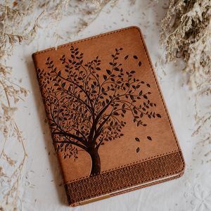 Tree of life vegan leather journal