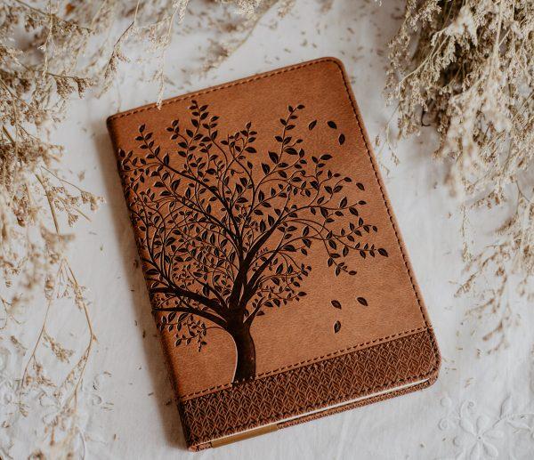 Tree of life vegan leather journal