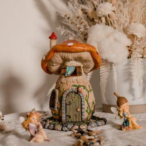whimsical mushroom cottage